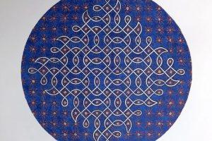 Shanthi Chandrasekar - Kolam_Astrocytes